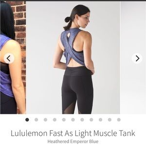 Lululemon Fast As Light Muscle Tank size 8